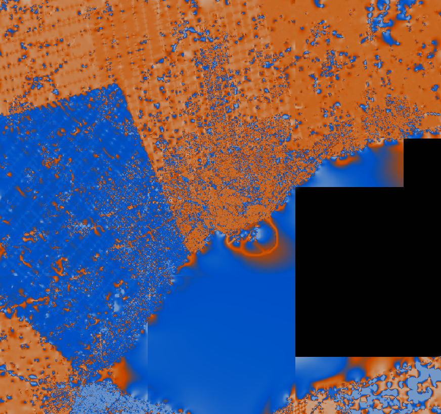 Interpolated ang values, mosaiced from 9 tiles